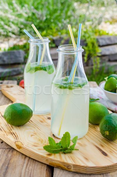Homemade mint lemonade Stock photo © Peteer