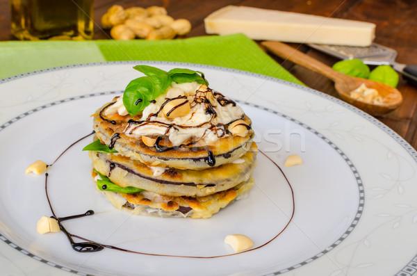 Gegrild aubergine feta basilicum noten Stockfoto © Peteer