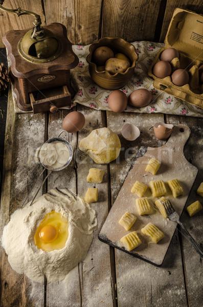 Homemade potato gnocchi Stock photo © Peteer