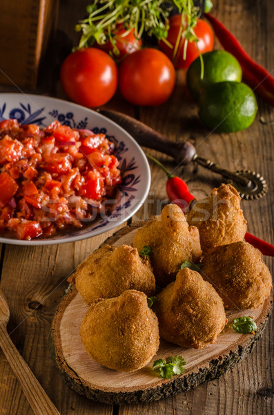 Brazilian Street Food Coxinhas Stock photo © Peteer