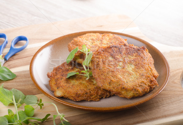 Batata panquecas alho delicioso original tcheco Foto stock © Peteer