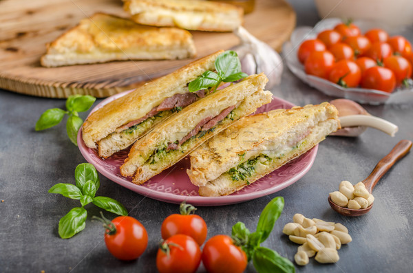 Pesto cheese sandwich Stock photo © Peteer