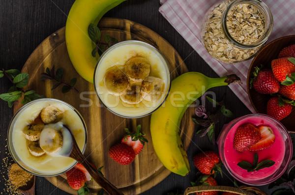 Banana puddink photo Stock photo © Peteer