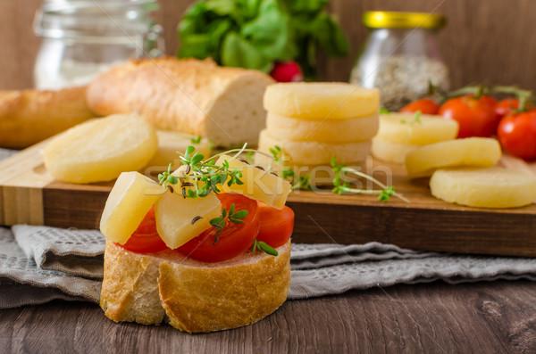 Czech smelly cheese - Olomoucke tvaruzky Stock photo © Peteer