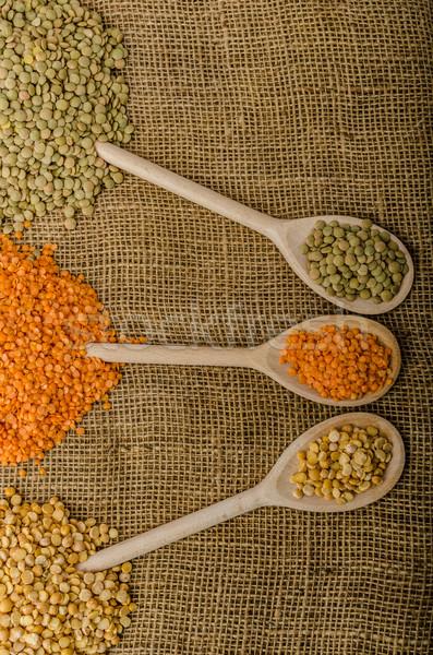 Lencse bio termék stock fotó étel Stock fotó © Peteer