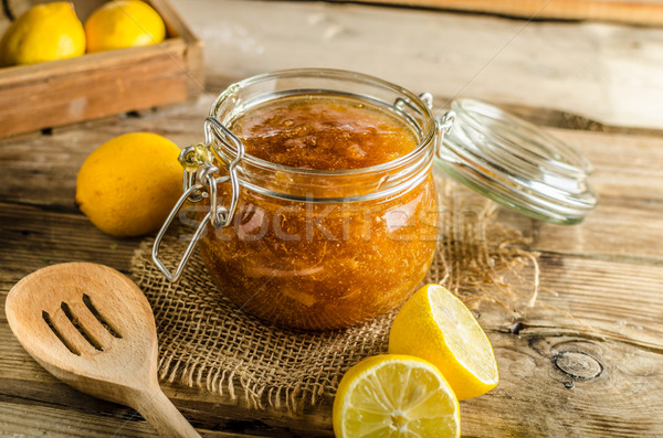Сток-фото: лимона · Jam · домашний · свежие · лимоны · фрукты