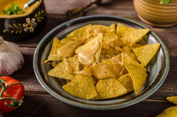 ナチョス 自家製 チーズ ディップ 高速 ストックフォト © Peteer