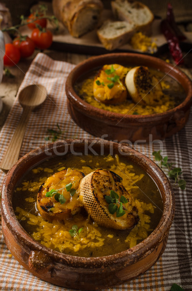French onion soup Stock photo © Peteer