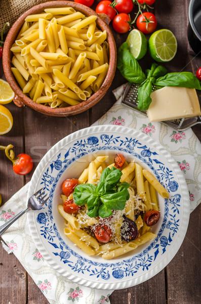 Foto d'archivio: Pasta · vegetali · semplice