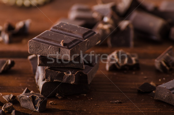 Chocolate oscuro producto fotografía listo anuncio texto Foto stock © Peteer