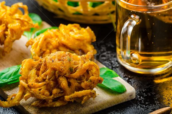 ぱりぱり タマネギ チーズ ディップ ハラペニョ トースト ストックフォト © Peteer