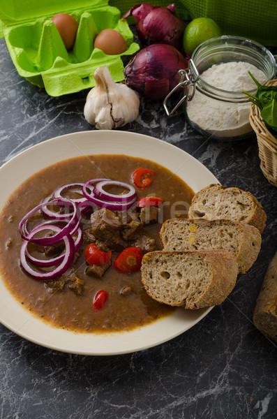 Originale tchèque boeuf chaud piment Photo stock © Peteer
