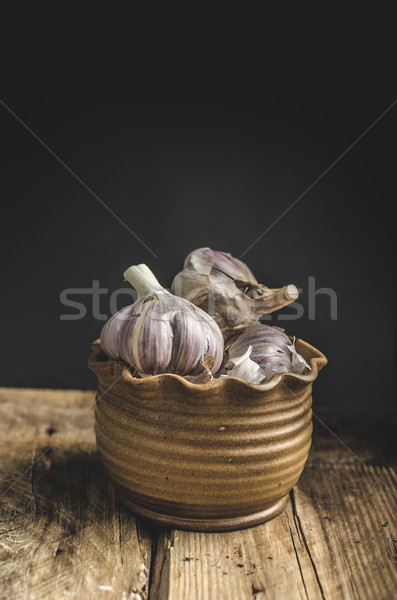 Homemade bio garlic Stock photo © Peteer