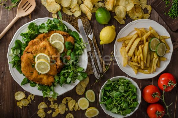 German schnitzel Stock photo © Peteer