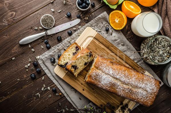 ブルーベリー ヨーグルト 甘い パン シード バイオ ストックフォト © Peteer