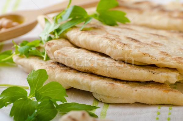Kenyér pita szép friss egyszerű olcsó Stock fotó © Peteer
