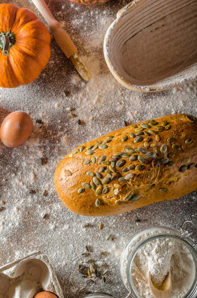 Homemade pumpkin bread Stock photo © Peteer