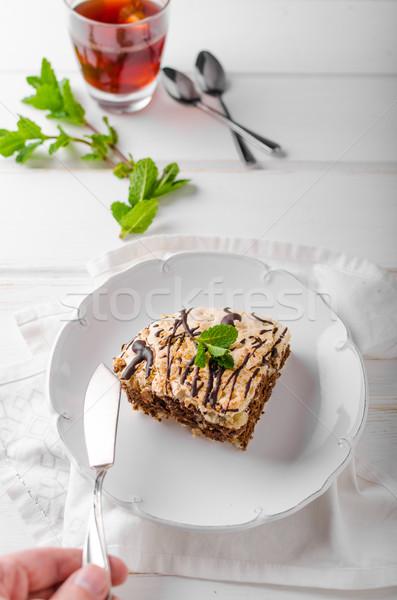 Chocolate Pavlova Cake Stock photo © Peteer
