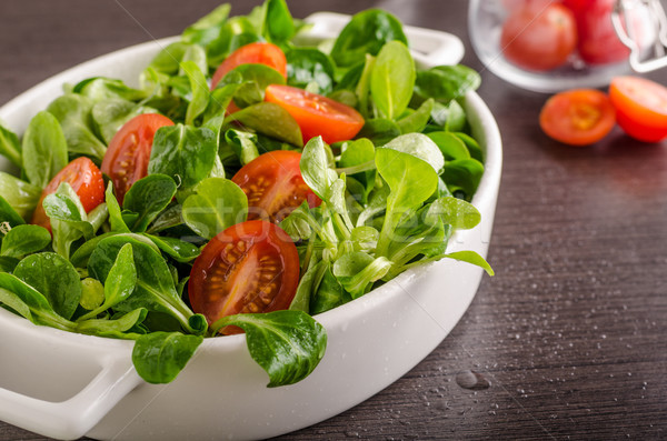 Baranka sałata Sałatka pomidory zioła żywności Zdjęcia stock © Peteer