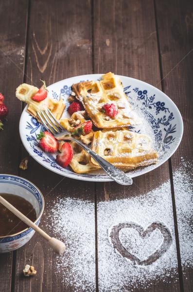 Belgian breakfast Stock photo © Peteer