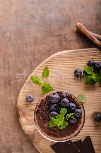 Chocolate pudim ervas vintage rústico Foto stock © Peteer