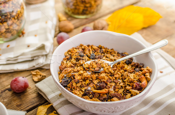 Baked granola Stock photo © Peteer