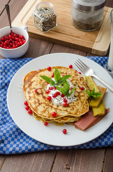 Homemade pancakes with fruit Stock photo © Peteer