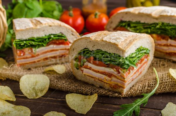 Stock photo: Italian Pressed Sandwich