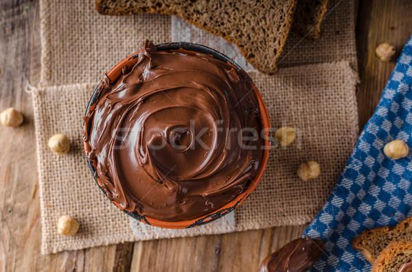 Hazelnut spread delicious Stock photo © Peteer