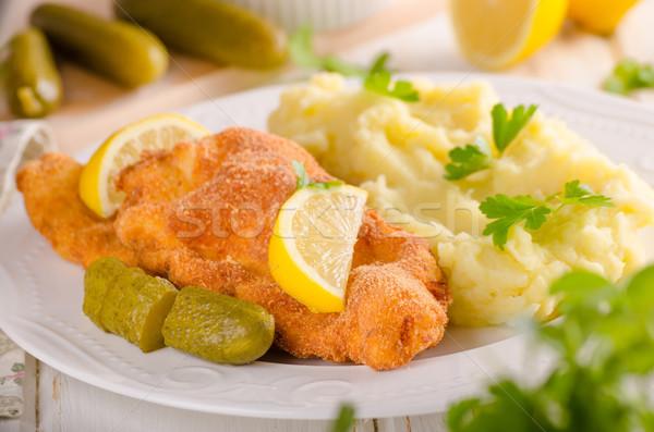 Fraîches originale pommes de terre citrons herbes haut Photo stock © Peteer