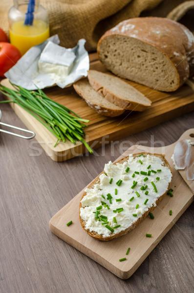 健康 朝食 自家製 ビール パン チーズ ストックフォト © Peteer