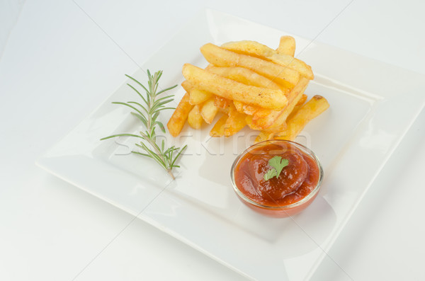 French fries with ketchup Stock photo © Peteer