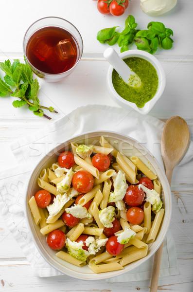 Pasta salad with pesto Stock photo © Peteer