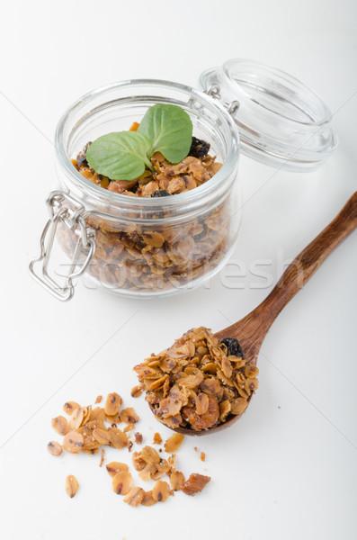 Granola sült sütő diók étel fotózás Stock fotó © Peteer