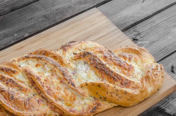 Breaded pie with svarzvald ham Stock photo © Peteer