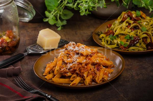 Pasta arrabiata delicious Stock photo © Peteer