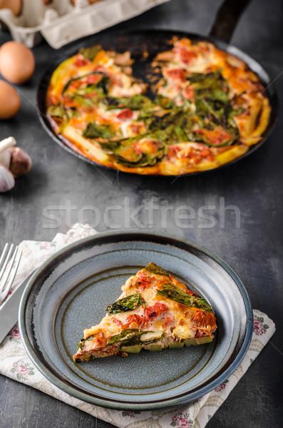 Stok fotoğraf: Sebze · fırın · basit · vejetaryen · yemek · ahşap · arka · plan