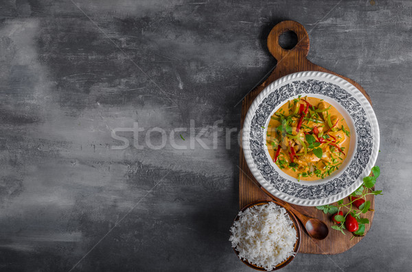 Chicken curry delish food Stock photo © Peteer