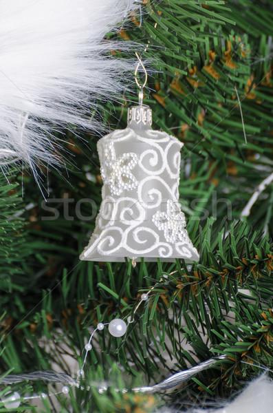 Stockfoto: Kerstboom · traditioneel · geschenken · lichten · witte · boom