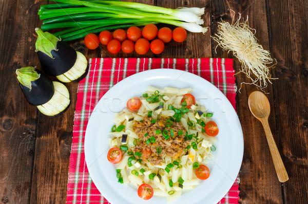 пасты соус болоньезе баклажан томатный древесины фон Сток-фото © Peteer