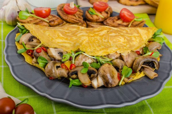 Vegetarian omelet, eat clean Stock photo © Peteer