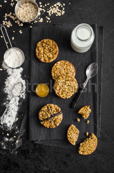 バナナ クッキー はちみつ ミルク 材料 ストックフォト © Peteer