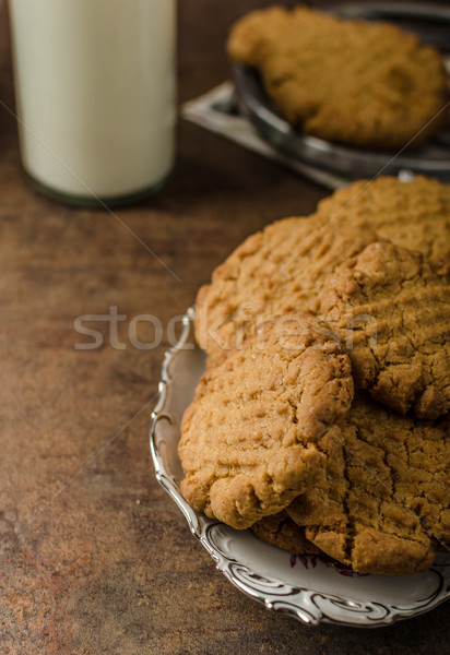 Cookies with peanut butter wholegrain Stock photo © Peteer