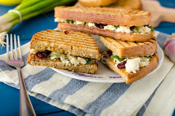 サンドイッチ ブルーチーズ パーニニ グリル ストックフォト © Peteer