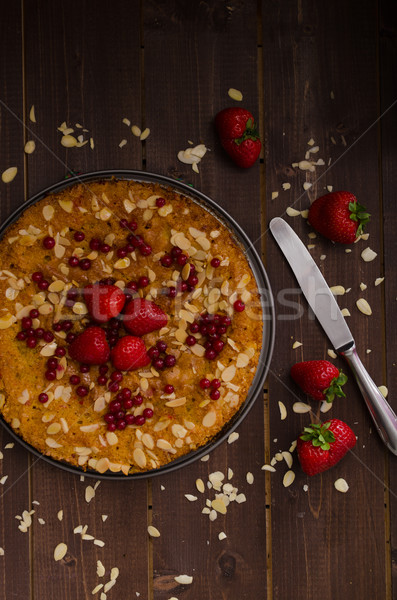 Stock photo: Homemade polenta cake