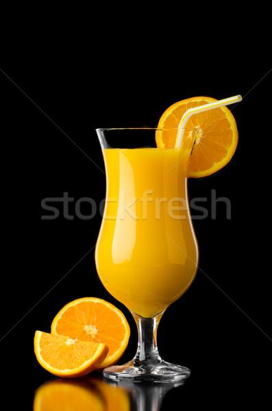 Orange juice reflection Stock photo © Peteer