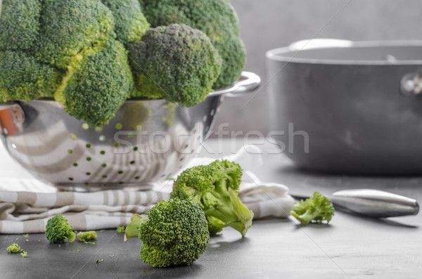 Broccoli vegetable raw picture Stock photo © Peteer