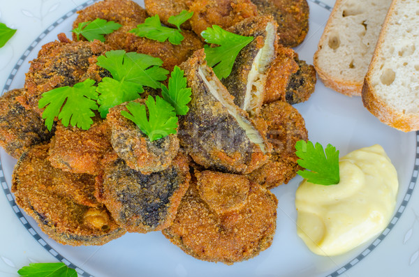 Champignons eigengemaakt mayonaise vers kruiden Stockfoto © Peteer
