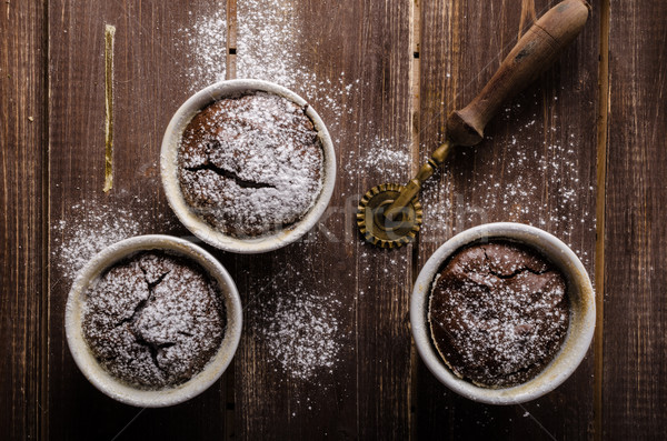 Chocolate souffle home Stock photo © Peteer