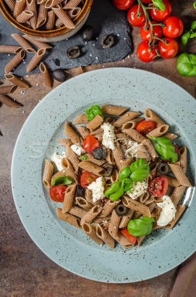 Whole grain pasta Stock photo © Peteer